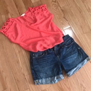 Coral color shirt